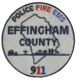 Police Fire EMS Effingham County 911 badge